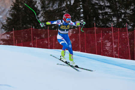fis: VAL GARDENA - GROEDEN,  ITALY, December 21 2013  SPORN Andrej  SLO  competing in the Audi FIS Alpine Skiing World Cup MEN