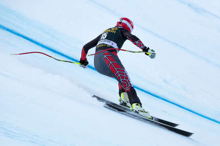 fis: VAL GARDENA, ITALY - DECEMBER 21   MILLER Bode  USA  races down the Saslong competing in the Audi FIS Alpine Skiing World Cup MEN