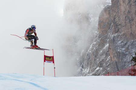 fis: VAL GARDENA, ITALIA - 21 dicembre GUAY Erik PUO corse lungo la Saslong competizione della Audi FIS di sci alpino Coppa del Mondo UOMINI