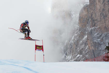 fis: VAL GARDENA, ITALY - DECEMBER 21   GUAY Erik  CAN  races down the Saslong competing in the Audi FIS Alpine Skiing World Cup MEN