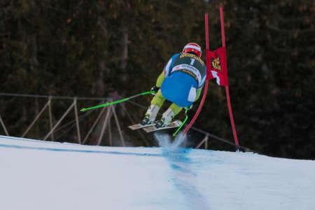 fis: VAL GARDENA - Groeden, ITALIA, 21 dicembre 2013 Sporn Andrej SLO competere nella Audi FIS di sci alpino Coppa del Mondo UOMINI Editoriali