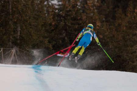 men s boot: VAL GARDENA - GROEDEN,  ITALY, December 21 2013  PERKO Rok  SLO  competing in the Audi FIS Alpine Skiing World Cup MEN