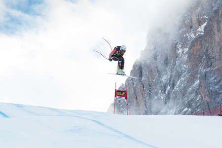 jeffrey: VAL GARDENA, ITALY - DECEMBER 21  FRISCH Jeffrey  CAN  races down the Saslong competing in the Audi FIS Alpine Skiing World Cup MEN