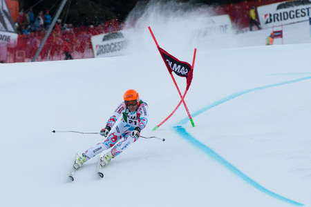 fis: Alta Badia, ITALY 22 December 2013  RICHARD Cyprien  FRA  competing in the Audi FIS Alpine Skiing World Cup MEN