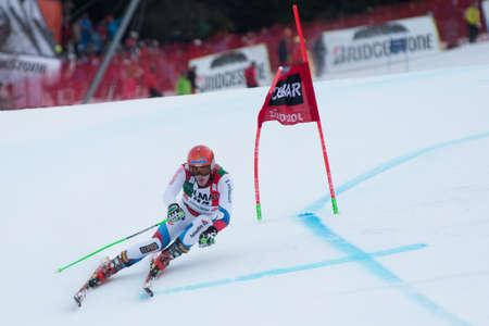 fis: Alta Badia, ITALIA 22 dicembre 2013 MUFFATJEANDETVictor FRA competere nella Audi FIS di sci alpino Coppa del Mondo UOMINI Editoriali