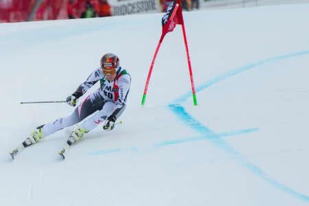 fis: Alta Badia, ITALIA 22 dicembre 2013 FELLER Manuel AUT competere nella Audi FIS di sci alpino Coppa del Mondo UOMINI