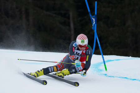 fis: Alta Badia, ITALY 22 JITLOFF Tim  USA  competing in the Audi FIS Alpine Skiing World Cup MEN Editorial