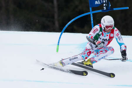 fis: Alta Badia, ITALY 22 FANARA Thomas  FRA  competing in the Audi FIS Alpine Skiing World Cup MEN