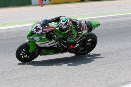superbike: MISANO ADRIATICO, ITALY - JUNE 21: Kawasaki ZX-10R EVO of Kawasaki Racing Team, driven by SALOM David in action during the Superbike Free Practice 4th Session during the FIM Superbike World Championship - Race at Misano World Circuit on June 21, 2014 in M