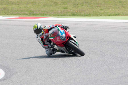 adriatico: MISANO ADRIATICO, ITALY - JUNE 21: MV Agusta F3 675 of MV Agusta Reparto Corse Team, driven by CLUZEL Jules in action during the Supersport Free Practice 3th Session during the FIM SUPERSPORT World Championship - Race at Misano World Circuit on June 21, 2