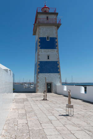 A view of the Farol de Santa Marta at Cascais, Lisbon.