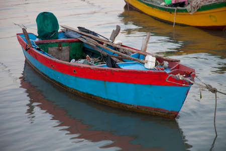 Boat on the beach of Caorle (Venice) photo