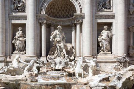 italian fountain: Rome, Italy - famous Trevi Fountain (Italian: Fontana di Trevi).