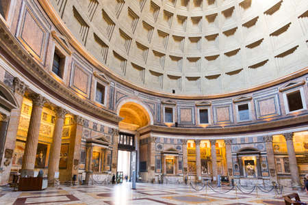 Rome Italy - April 28, 2012: Detail of Pantheon in Rome Editöryel