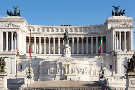emmanuel: ROME, ITALY - APRIL 28, 2014: The Altare della Patria also known as the Monumento Nazionale a Vittorio Emanuele II is a controversial monument built in honour of Victor Emmanuel. Editorial