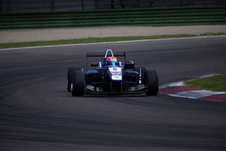carlin: Imola, Italy - October 11, 2014: Dallara F312 Volkswagen of Carlin Team, driven by Edward Jones (Are) in action During The FIA ??Formula 3 European Championship - Race in Imola at Enzo & Dino Ferrari Circuit