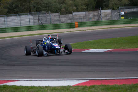 carlin: Imola, Italy - October 11, 2014: Dallara F312 Volkswagen of Carlin Team, driven by KING Jordan (GBR) in action During The FIA ??Formula 3 European Championship - Race in Imola at Enzo & Dino Ferrari Circuit
