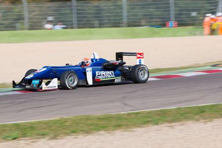 enzo: Imola, Italy - October 11, 2014: Dallara F312 Volkswagen of Carlin Team, driven by Edward Jones (Are) in action During The FIA ??Formula 3 European Championship - Race in Imola at Enzo & Dino Ferrari Circuit