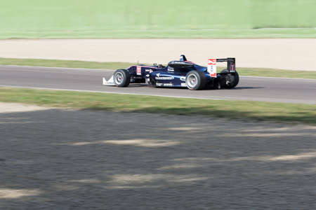 enzo: Imola, Italy - October 11, 2014: Dallara F312 Mercedes R of Eurointernational Team, driven by Beretta Michele (Ita) in action During The FIA ??Formula 3 European Championship - Race in Imola at Enzo & Dino Ferrari Circuit Editorial