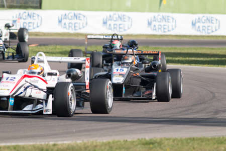 imola: Imola, Italy - October 11, 2014: Dallara F312 - VolkswagenR of Van Amersfoort Racing Team, driven by Jules Szymkowiak (NLD) in action During The FIA ??Formula 3 European Championship Editorial