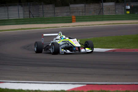 enzo: Imola, Italy - October 11, 2014: Dallara F312 - NBE of ThreeBond with T-Sport team, driven by Richard Goddard (Aus) in action During The FIA ??Formula 3 European Championship - Race in Imola at Enzo & Dino Ferrari Circuit Editorial