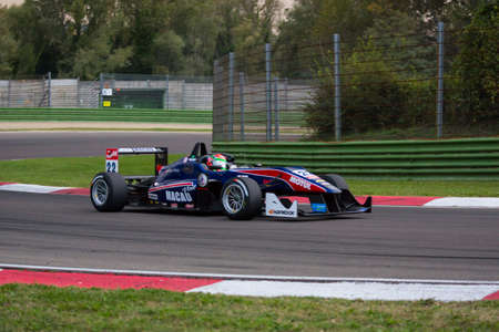 enzo: Imola, Italy - October 11, 2014: Dallara F312 - Mercedes of Team West-Tec, driven by Chang Wing Chung (Chn) in action During The FIA ??Formula 3 European Championship