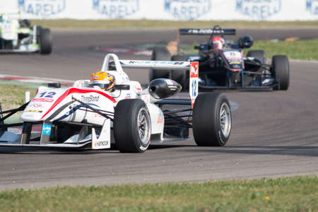 enzo: Imola, Italy - October 11, 2014: Dallara F312 - NBE of ThreeBond with T-Sport team, driven by Alexander Toril (Esp) in action During The FIA ??Formula 3 European Championship