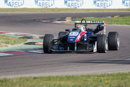 tec: Imola, Italy - October 11, 2014: Dallara F312 Mercedes of Team West-Tec, driven by Chang Wing Chung (Chn) in action During The FIA ??Formula 3 European Championship