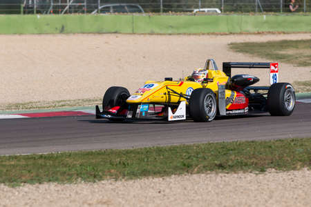 carlin: Imola, Italy - October 11, 2014: Dallara F312 Volkswagen of Jagonya Ayam with Carlin Team, driven by Anthony Giovinazzo (Ita) in action During The FIA ??Formula 3 European Championship