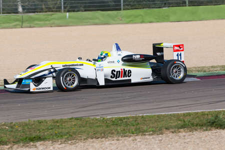 imola: Imola, Italy - October 11, 2014: Dallara F312 - NBE of ThreeBond with T-Sport team, driven by Richard Goddard (Aus) in action During The FIA ??Formula 3 European Championship - Race in Imola at Enzo & Dino Ferrari Circuit Editorial