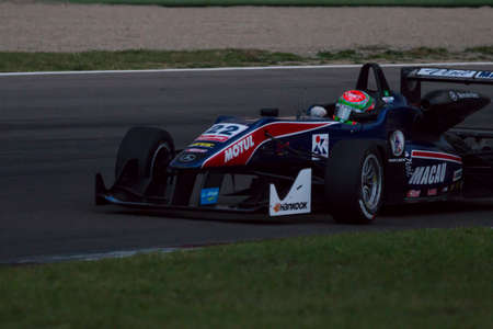 enzo: Imola, Italy - October 11, 2014: Dallara F312 - Mercedes of Team West-Tec, driven by Chang Wing Chung (Chn) in action During The FIA ??Formula 3 European Championship - Race in Imola at Enzo & Dino Ferrari Circuit