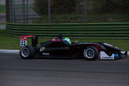imola: Imola, Italy - October 11, 2014: Dallara F312 – Mercedes of Signature Team, driven by Buller William (Gbr) in action during the Fia Formula 3 European Championship - Race in Imola at Enzo & Dino Ferrari Circuit on October 11, 2014 in Imola, Italy. (Phot