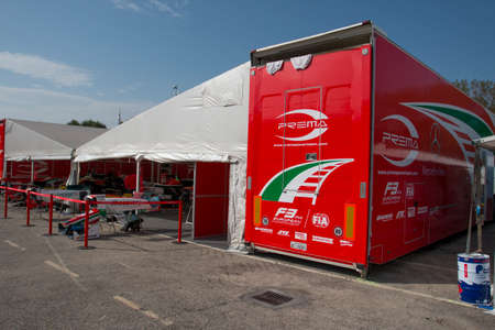 imola: Imola, Italy - October 11, 2014: Dallara F312 – Mercedes R of Prema Powerteam Team, driven by Fuoco Antonio (Ita) in action during the Fia Formula 3 European Championship - Race in Imola at Enzo & Dino Ferrari Circuit on October 11, 2014 in Imola, Italy