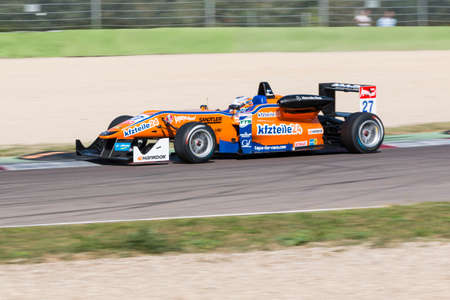 enzo: Imola, Italy - October 11, 2014: Dallara F312 – Mercedes of kfzteile24 Mùcke Motorsport  Team, driven by Rosenqvist Felix (Swe) in action during the Fia Formula 3 European Championship - Race in Imola at Enzo & Dino Ferrari Circuit on October 11, 2014