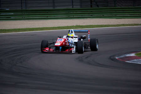 carlin: Imola, Italy - October 11, 2014: Dallara F312 VolkswagenR of Carlin Team, driven by Jake Dennis (Gbr) in action During The FIA ??Formula 3 European Championship
