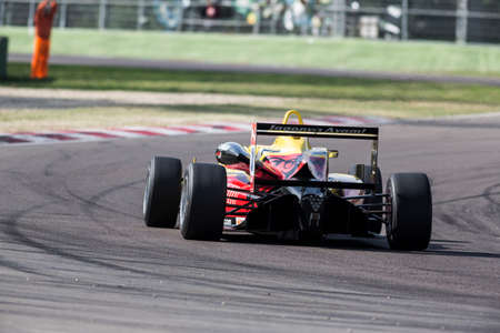 carlin: Imola, Italy - October 11, 2014: Dallara F312 NBE R of T-Sport team, driven by Nick Cassidy (Nzl) in action During The FIA ??Formula 3 European Championship - Race in Imola at Enzo & Dino Ferrari Circuit