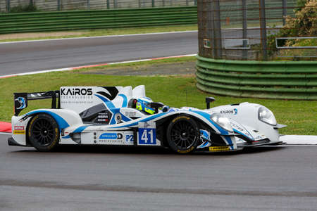 greaves: Imola, Italy – May 16, 2015: Gibson 015S – Nissan of Greaves Motorsport Team, driven by Johnny Mowlem  in action during the European Le Mans Series - 4 Hours of Imola in Autodromo Enzo & Dino Ferrari on May 16, 2015 in Imola, Italy.