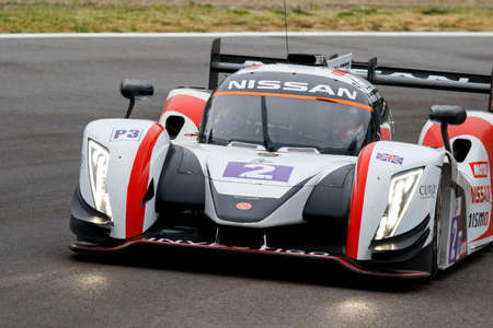 imola: Imola, Italy – May 16, 2015: Ginetta – Nissan of Thiriet By LNT Team, driven by Michael Simpson in action during the European Le Mans Series - 4 Hours of Imola in Autodromo Enzo & Dino Ferrari on May 16, 2015 in Imola, Italy. Editorial