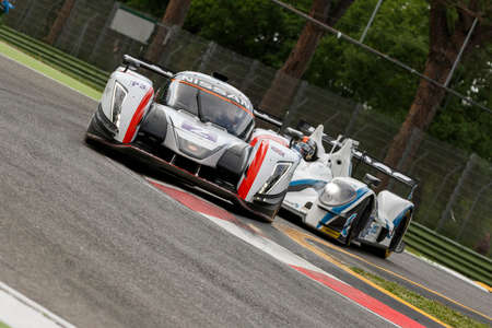 simpson: Imola, Italy – May 16, 2015: Ginetta – Nissan of Thiriet By LNT Team, driven by Michael Simpson in action during the European Le Mans Series - 4 Hours of Imola in Autodromo Enzo & Dino Ferrari on May 16, 2015 in Imola, Italy. Editorial