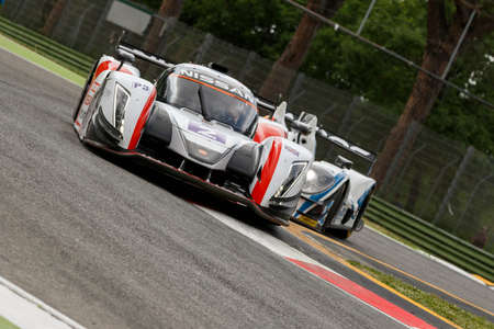 simpson: Imola, Italy - May 16, 2015: Nissan of Thiriet By LNT Ginetta Team, driven by Michael Simpson in action During The European Le Mans Series - 4 Hours of Imola Autodromo Dino Ferrari Enzo on May 16, 2015 in Imola, Italy. Editorial