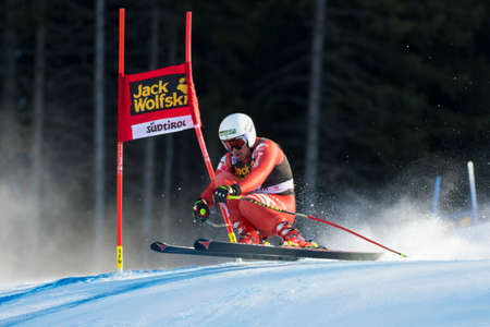 fis: Val Gardena, Italy 20 December 2014. Fill Peter(Ita) competing in the Audi FIS Alpine Skiing World Cup Super-G race on the Saslong course in the Dolomite mountain range.