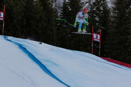 gardena: Val Gardena, Italy 19 December 2014. Cater Martin (Slo) competing in the Audi Fis Alpine Skiing World Cup Mens Downhill Race on the Saslong Course in the dolomite mountain rang