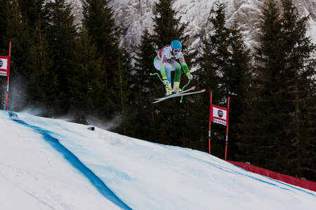 fis: Val Gardena, Italy 19 December 2014.  Perko Rok (Slo) competing in the Audi Fis Alpine Skiing World Cup Mens Downhill Race on the Saslong Course in the dolomite mountain rang