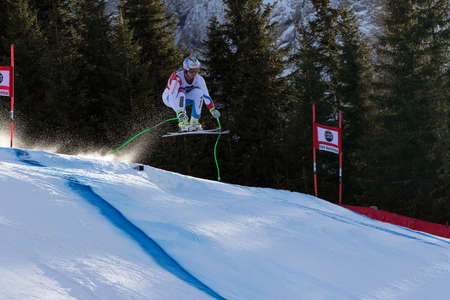 weber: Val Gardena, Italy 19 December 2014.  Weber Ralph (Can) competing in the Audi Fis Alpine Skiing World Cup Mens Downhill Race on the Saslong Course in the dolomite mountain rang