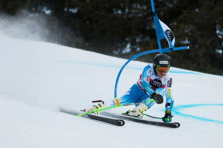 fis: Val Badia, Italy 21 December 2014. LIGETY Ted (Usa) competing in the Audi Fis Alpine Skiing World Cup Men's Giant Slalom on the Gran Risa Course in the dolomite mountain range.