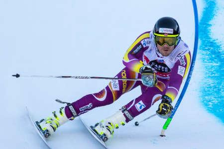 fis: Val Badia, Italy 21 December 2014. JANSRUD Kjetil (Nor) competing in the Audi Fis Alpine Skiing World Cup Men's Giant Slalom on the Gran Risa Course in the dolomite mountain range.