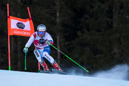 manuel: Val Badia, Italy 21 December 2014. PLEISCH Manuel (Sui) competing in the Audi Fis Alpine Skiing World Cup Men's Giant Slalom on the Gran Risa Course in the dolomite mountain range. Editorial