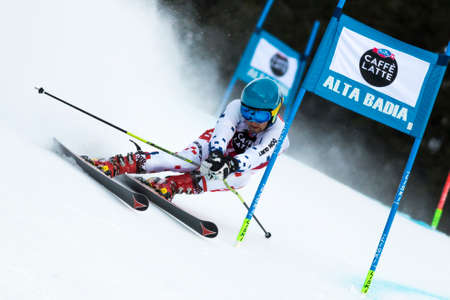 fis: Val Badia, Italy 21 December 2014. KOTZMANN Adam (Cze) competing in the Audi Fis Alpine Skiing World Cup Men's Giant Slalom on the Gran Risa Course in the dolomite mountain range.