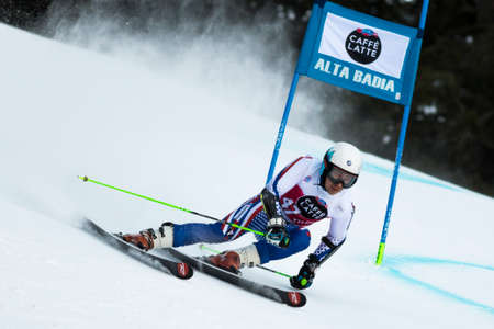 aleksander: Val Badia, Italy 21 December 2014. ANDRIENKO Aleksander (Rus) competing in the Audi Fis Alpine Skiing World Cup Men's Giant Slalom on the Gran Risa Course in the dolomite mountain range. Editorial