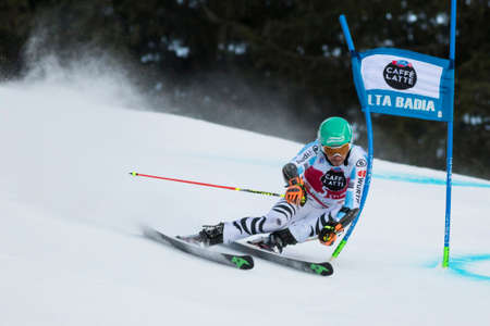 felix: Val Badia, Italy 21 December 2014. NEUREUTHER Felix (Ger) competing in the Audi Fis Alpine Skiing World Cup Men's Giant Slalom on the Gran Risa Course in the dolomite mountain range.
